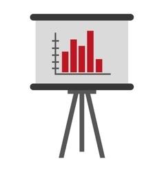 board bar graph vector image