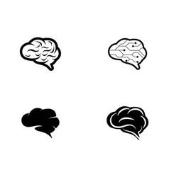 brain logo template icon vector image