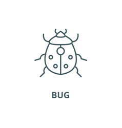 bug line icon bug outline sign concept vector image