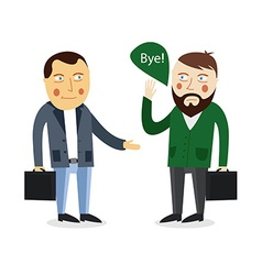 Businessman greeting partner concept Business vector