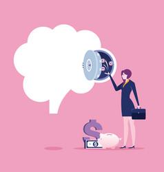 businesswoman make money from idea vector image