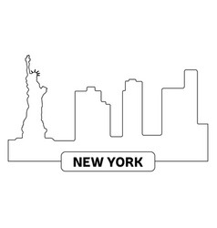 Cityscape of new york vector