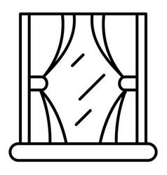 Classic curtain icon outline style vector