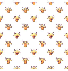 cow head pattern seamless vector image