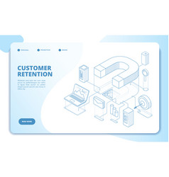 Customer retention landing page client loyalty vector