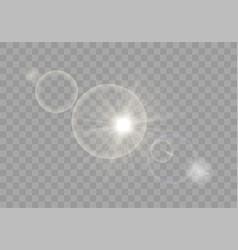 cute sunlight special lens flash light effect vector image