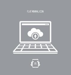data cloud flat icon vector image
