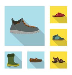 Design of shoe and footwear logo vector
