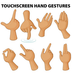 Different touchscreen hand gestures vector