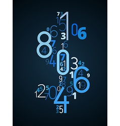 Dollar sign font from numbers vector