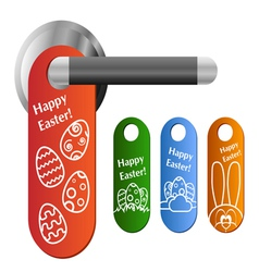 Easter door hanger set vector