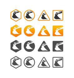 excavator logo template vector image