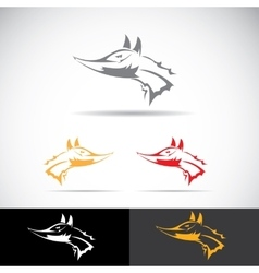 fox sign label or tattoo design vector image