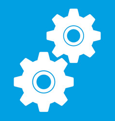 gear icon white vector image