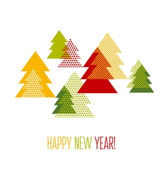 Geometry Christmas tree for greetings card vector image