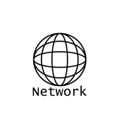 global networking icon networking icon vector image