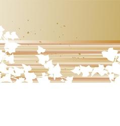 Grunge frame leafs vector