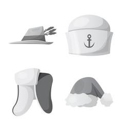 headgear and cap sign set vector image
