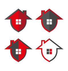 home security home in form shield vector image