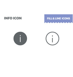information sign icon fill and line flat vector image