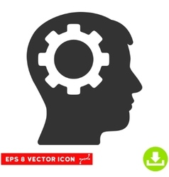 Intellect Gear Eps Icon vector