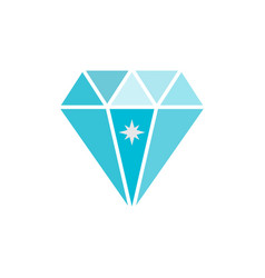 jewelry symbol diamond icon vector image