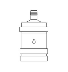 large bottle with water linear icon vector image