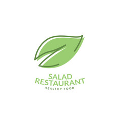 logo salad restaurant icon vector image