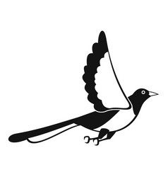 Magpie fly icon simple style vector