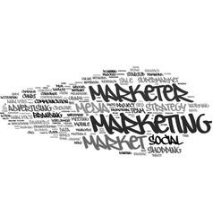Marketer word cloud concept vector
