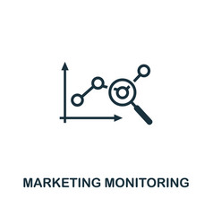 marketing monitoring icon premium style design vector image