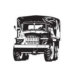 Off-highway truck vector