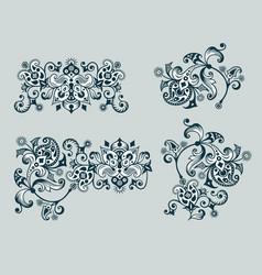 ornamental vintage design elements vector image