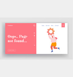 page not found website landing page cheerful vector image