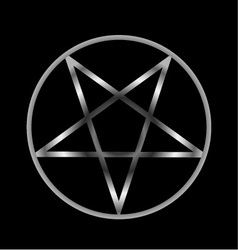 Pentacle- Religious symbol of satanism vector image