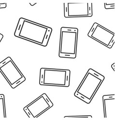 phone device sign icon seamless pattern vector image