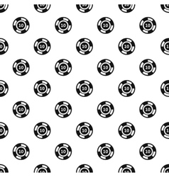 Poker chip nominal 10 pattern simple style vector