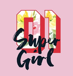 Print for T-shirt Super girl vector