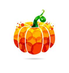pumpkin bubble vector image