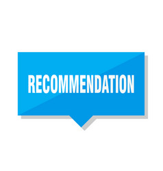 Recommendation price tag vector