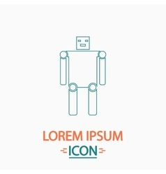 Robot computer symbol vector