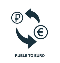 ruble to euro icon mobile app printing web site vector image