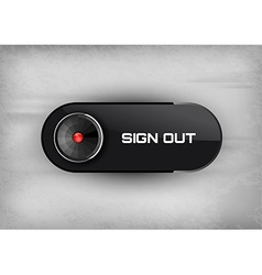 Sign Out Button vector image