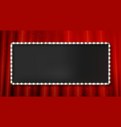 Silver frame cinema on a dark background vector