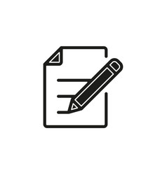simple document with pen icon vector image