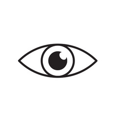 simple eye icon eyesight pictogram in flat style vector image