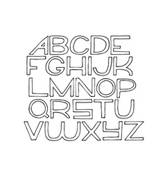 Simple hand drawn alphabet letters from A to Z vector