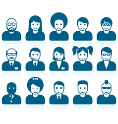 Simple people avatars vector image