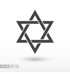 Star of David Star flat icon Sign Star vector