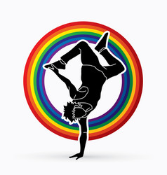 Street dance dancer action vector